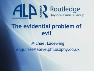 The evidential problem of evil