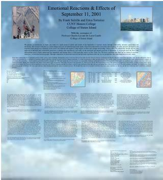 Emotional Reactions & Effects of September 11, 2001