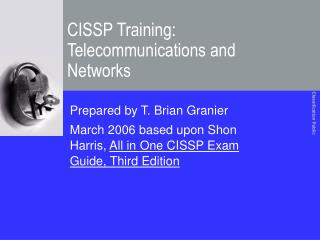 CISSP Training: Telecommunications and Networks