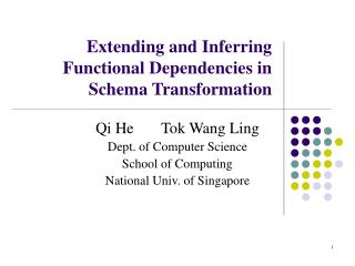 Extending and Inferring Functional Dependencies in Schema Transformation