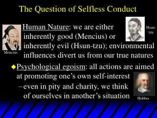 The Question of Selfless Conduct