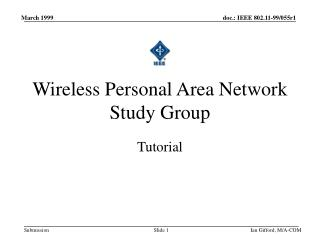 Wireless Personal Area Network Study Group