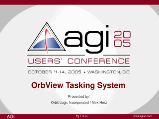 OrbView Tasking System