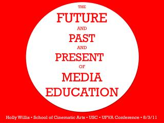 The  Future  and  past  and  Present  Of Media Education
