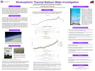 Stratospheric Thermal Balloon Wake Investigation