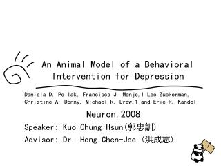 An Animal Model of a Behavioral Intervention for Depression