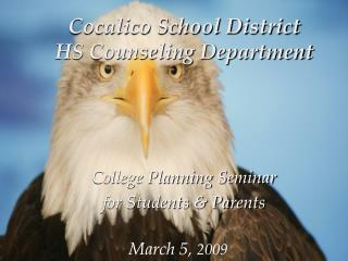 Cocalico School District HS Counseling Department