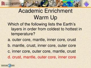Academic Enrichment Warm Up