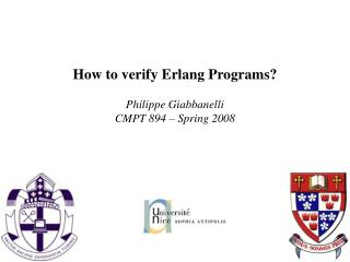 How to verify Erlang Programs?