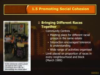 Bringing Different Races Together Community Centres