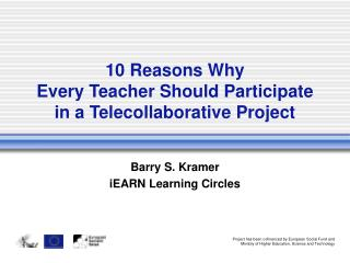10 Reasons Why Every Teacher Should Participate in a Telecollaborative Project