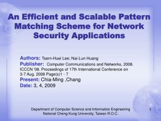 An Efficient and Scalable Pattern Matching Scheme for Network Security Applications