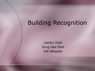 Building Recognition