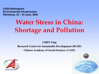 Water Stress in China: Shortage and Pollution