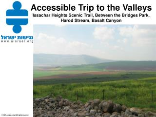 Amazing views of Harod Valley and Gilboa Mountains