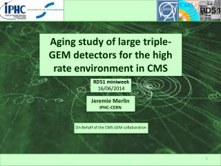Aging study of large triple-GEM detectors for the high rate environment in CMS