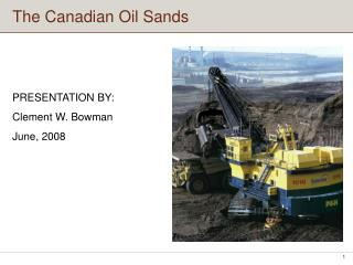 The Canadian Oil Sands