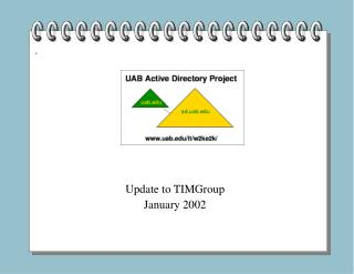 Update to TIMGroup January 2002