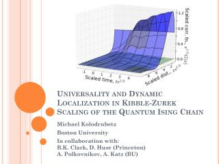Universality and Dynamic Localization in Kibble- Zurek Scaling of  the Quantum  Ising Chain