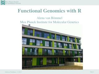 Functional Genomics with R