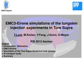 EMC3-Eirene simulations of the tungsten injection experiments in Tore Supra