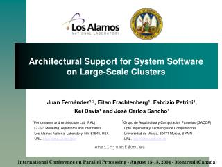Architectural Support for System Software on Large-Scale Clusters