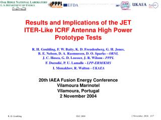 Results and Implications of the JET ITER-Like ICRF Antenna High Power Prototype Tests