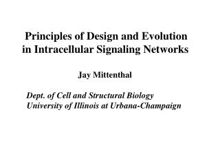 Principles of Design and Evolution in Intracellular Signaling Networks