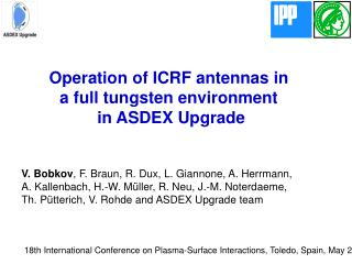 Operation of ICRF antennas in  a full tungsten environment  in ASDEX Upgrade