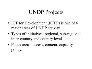 UNDP Projects