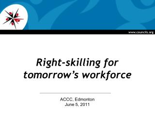 Right-skilling for  tomorrow's workforce