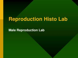 Reproduction Histo Lab