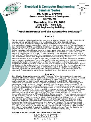 Electrical & Computer Engineering Seminar Series