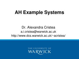 AH Example Systems