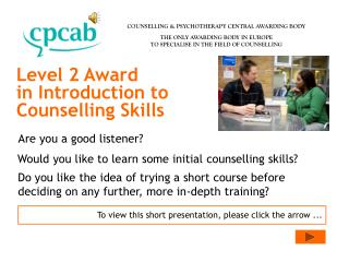 Level 2 Award in Introduction to Counselling Skills
