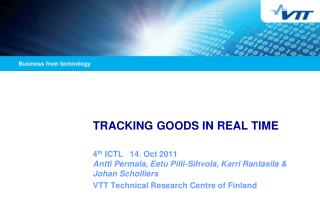 TRACKING GOODS IN REAL TIME