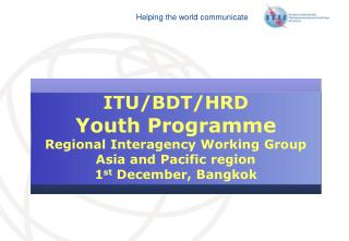 Youth Programme  Background and Purpose