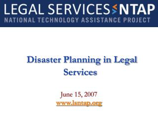 Disaster Planning in Legal Services