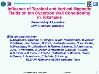 Influence of Toroidal and Vertical Magnetic Fields on Ion Cyclotron Wall Conditioning in Tokamaks
