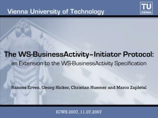 an Extension to the WS-BusinessActivity Specification