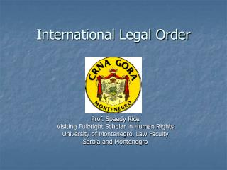 International Legal Order