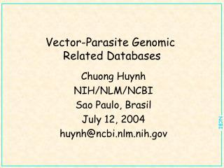 Vector-Parasite Genomic  Related Databases