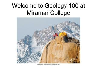 Welcome to Geology 100 at Miramar College