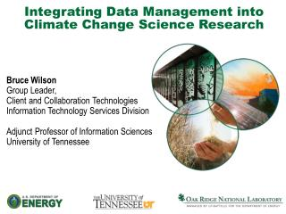 Integrating Data Management into Climate Change Science Research