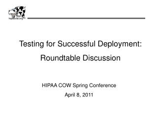 Testing for Successful Deployment: Roundtable Discussion