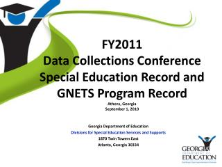 Georgia Department of Education Divisions for Special Education Services and Supports