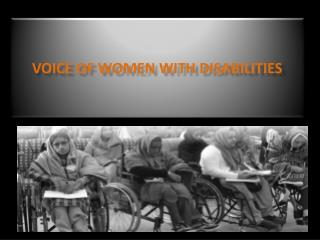 Voice of Women WITH DISABILITIES