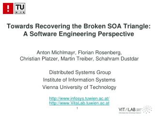 Towards Recovering the Broken SOA Triangle:  A Software Engineering Perspective