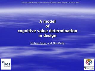 A model of cognitive value determination in design Michael Reber  and Alex Duffy