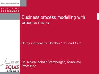 Business process modelling with process maps